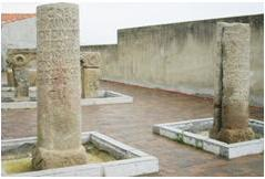 Roman milliariums in the town of Carcaboso (Cáceres, Spain)