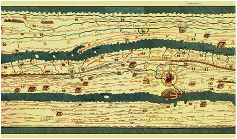image of the Tabula Peutingeriana